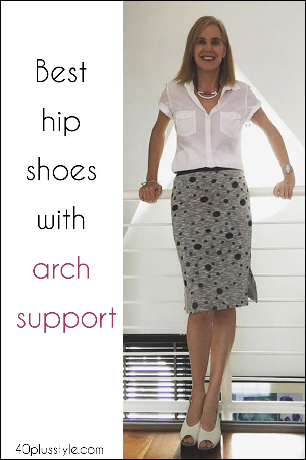 Best hip shoes with arch support | 40plusstyle.com