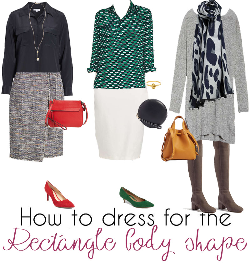 rectangle body shape outfits | 40plusstyle.com