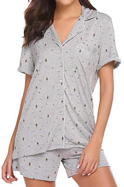 shortie pajamas for women | 40plusstyle.com