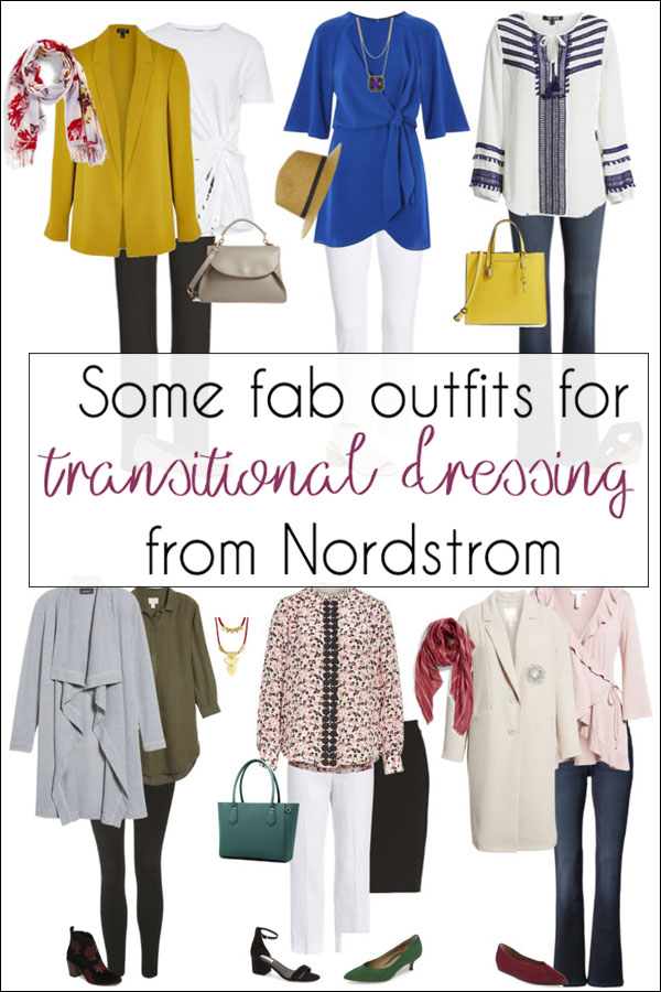 Some fab outfits for transitional dressing from Nordstrom | 40plusstyle.com