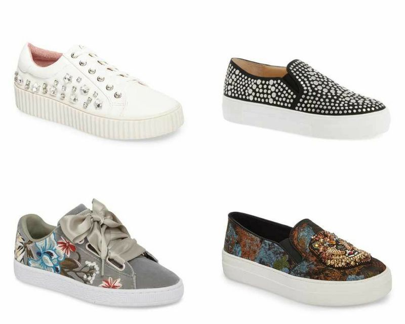 stylish embellished sneakers   40plusstyle.com