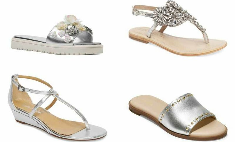 silver women's sandals styles for summer | 40plusstyle.com