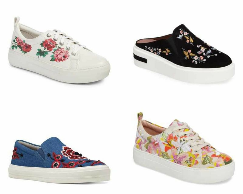 floral sneakers | 40plusstyle.com