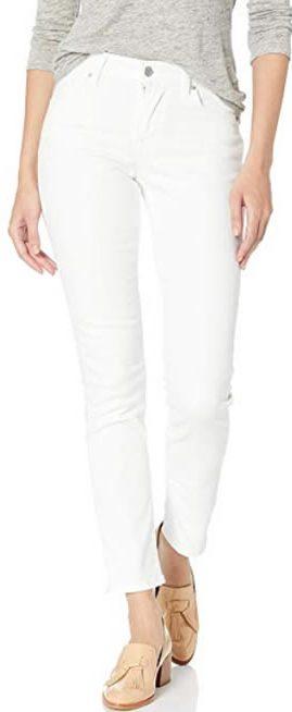 Levis white jeans | 40plusstyle.com