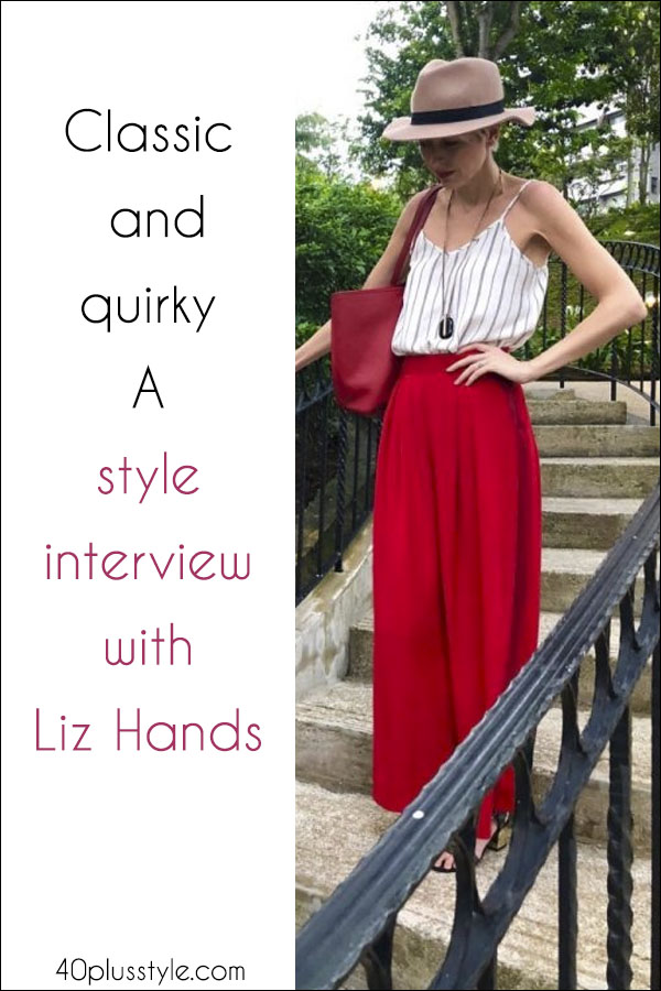 Classic and quirky - A style interview with Liz Hands | 40plusstyle.com