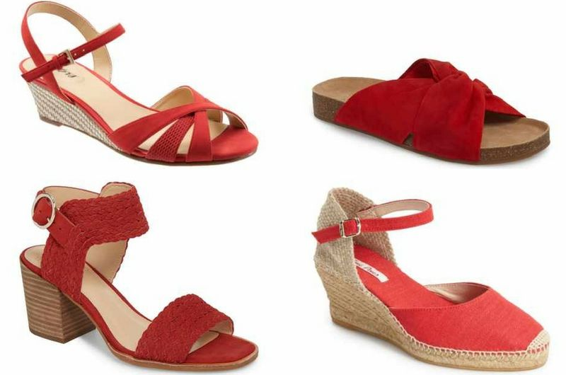 red sandals for summer | 40plusstyle.com