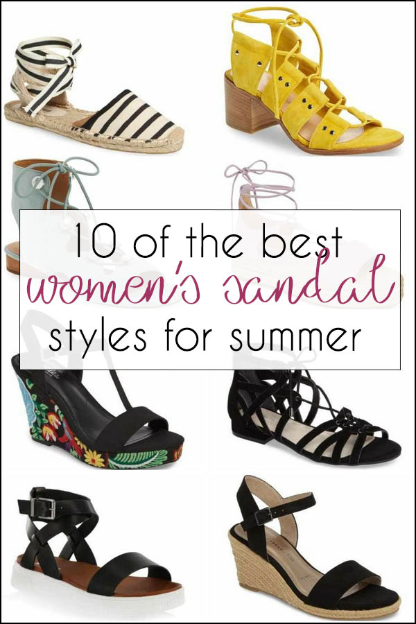 10 of the best cute women's sandals styles for summer | 40plusstyle.com