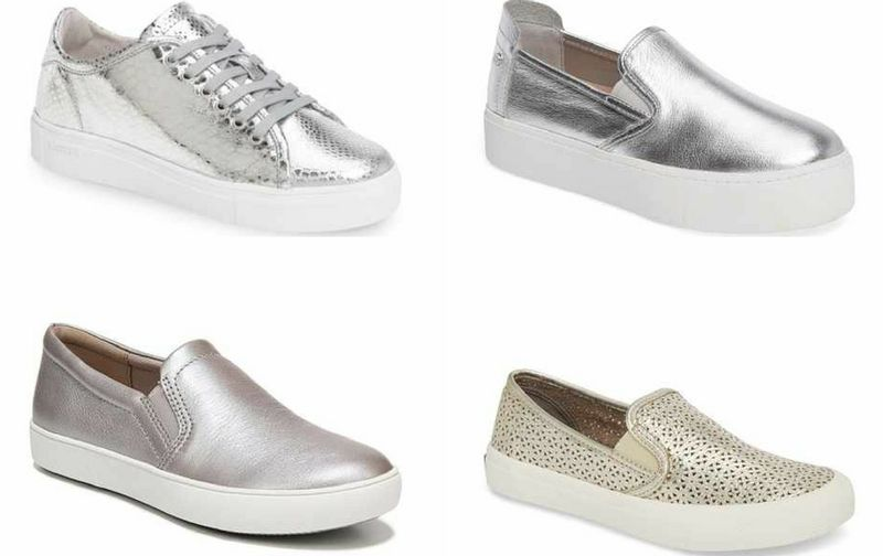 Silver shoes with arch support | 40plusstyle.com