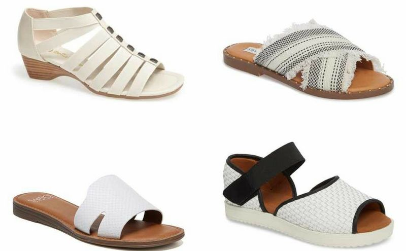 White sandals for summer | 40plusstyle.com
