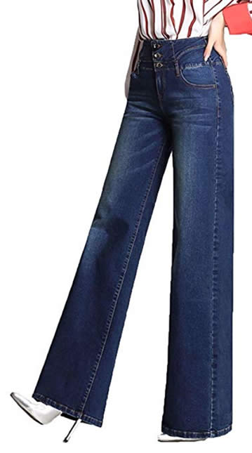 Wide leg jeans | 40plusstyle.com