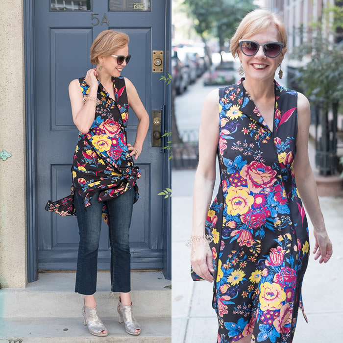 DVF silk dress - worn 2 ways | 40plusstyle.com