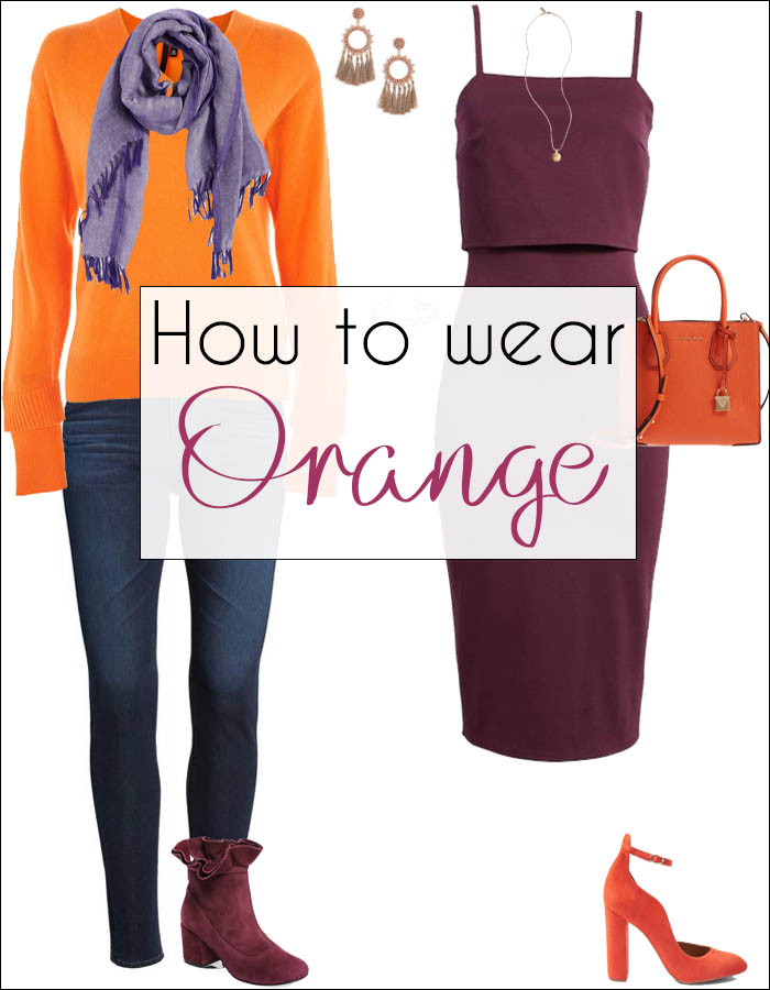 How to wear orange - ideas for color combinations | 40plusstyle.com