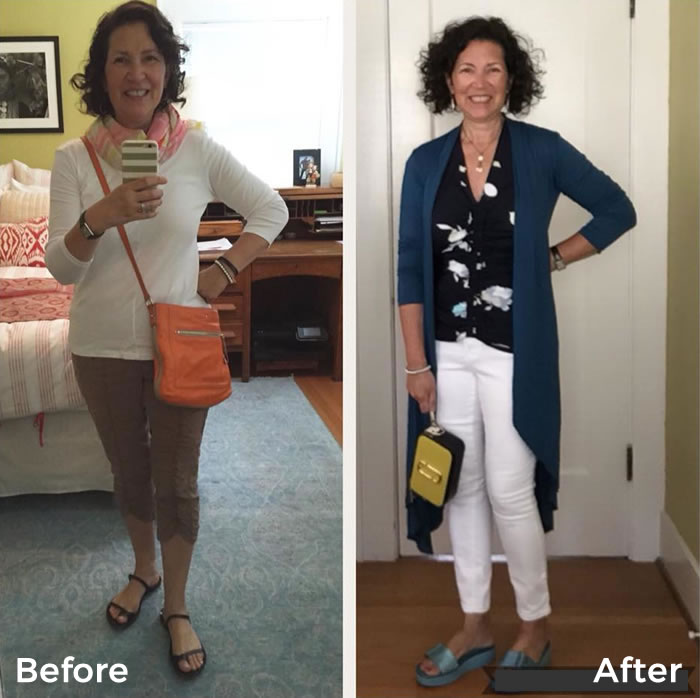 Before and after the 21 steps style course - Loving these style transformations! | 40plusstyle.com