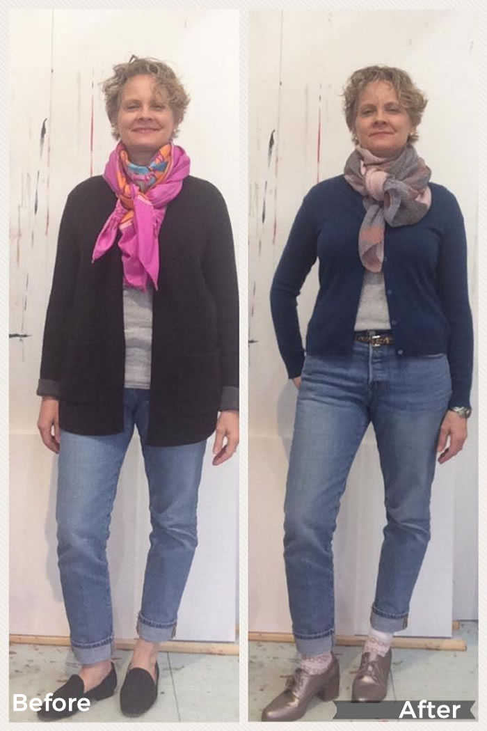 Staci before and after the 21 steps style course | 40plusstyle.com