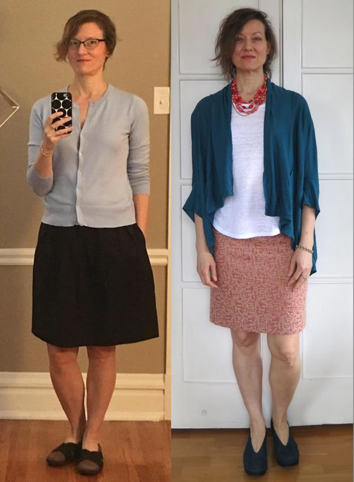 Miki - Before and after the 21 steps style course | 40plusstyle.com