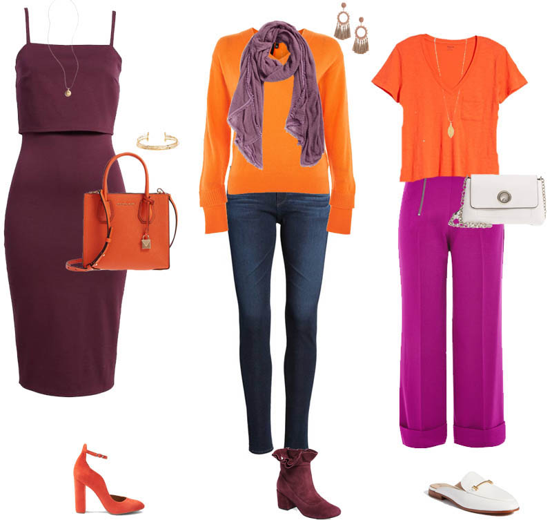 How to wear orange with other colors| 40plusstyle.com