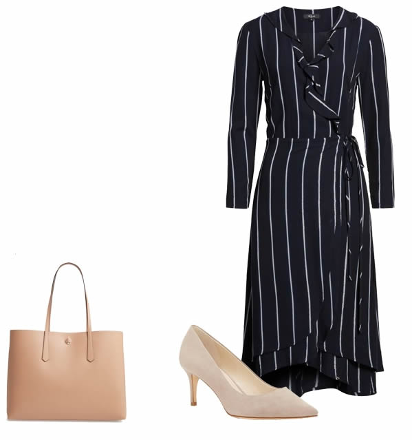dress with vertical stripes   40plusstyle.com