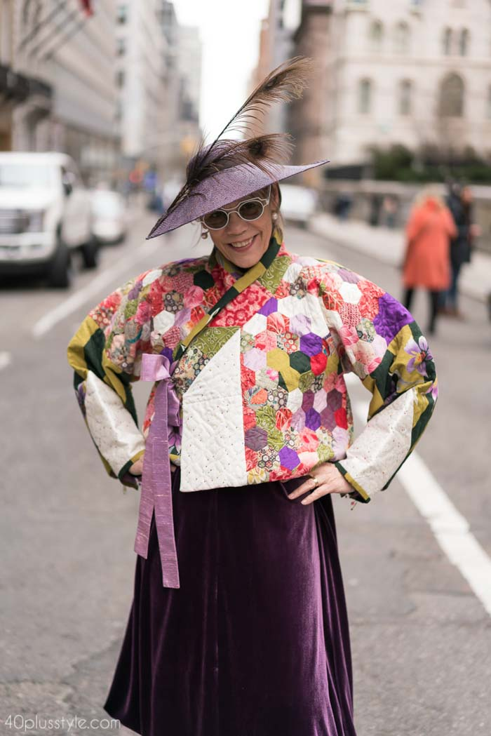 Oriental textile inspired crop jacket - Easter Parade outfits | 40plusstyle.com