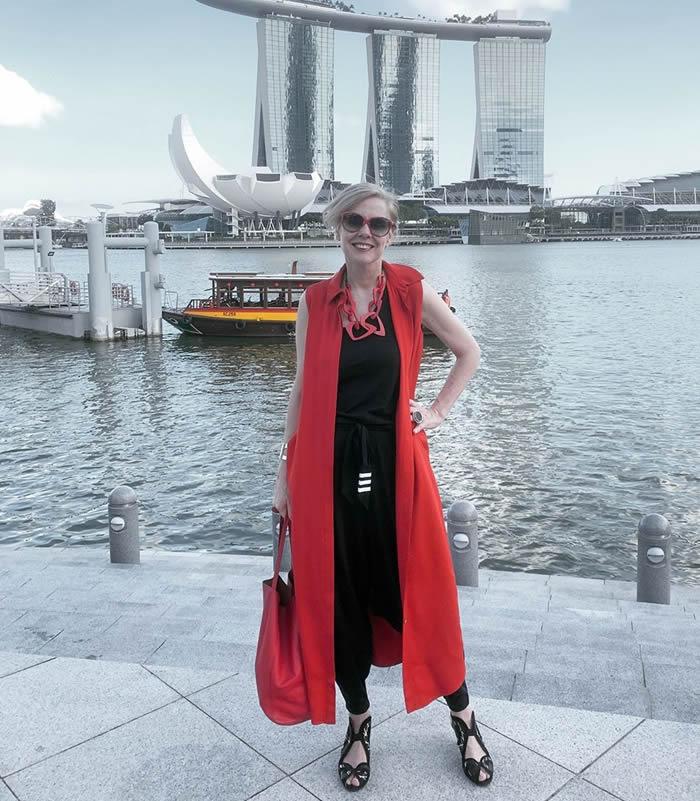 Wearing a long midi dress as a vest