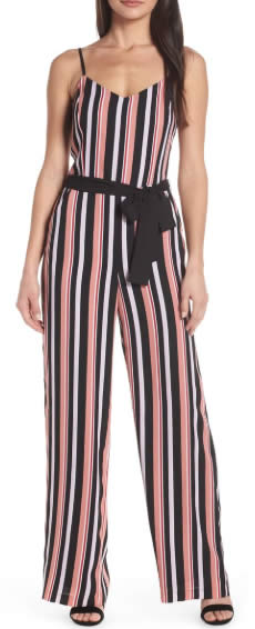 Jumpsuit with vertical stripes | 40plusstyle.com