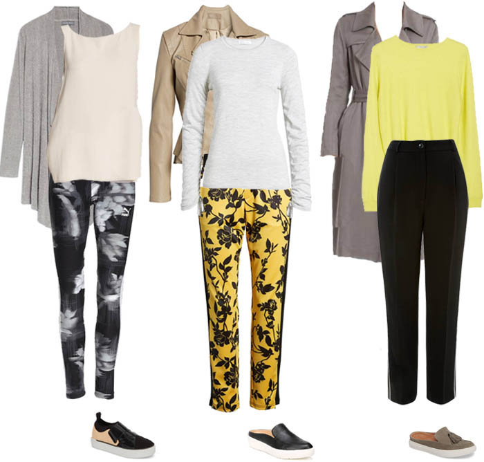 Yellow accent outfits - Loungewear | 40plusstyle.com