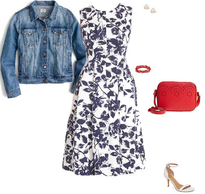 Floral dress to wear for Mother's Day brunch | 40plusstyle.com