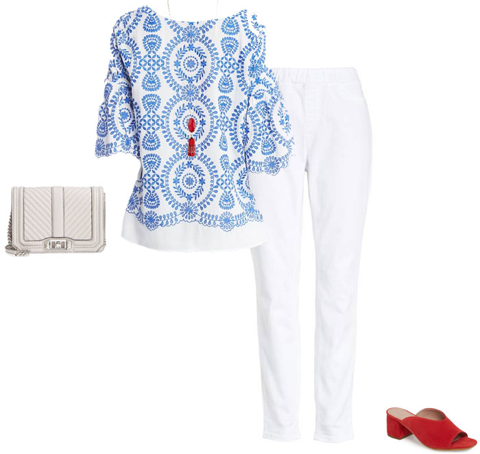 Chic white pants and top outfit - The best outfits to wear for Mother's Day brunch | 40plusstyle.com