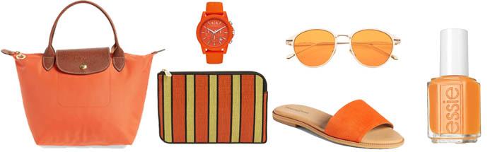 Orange accessories| 40plusstyle.com