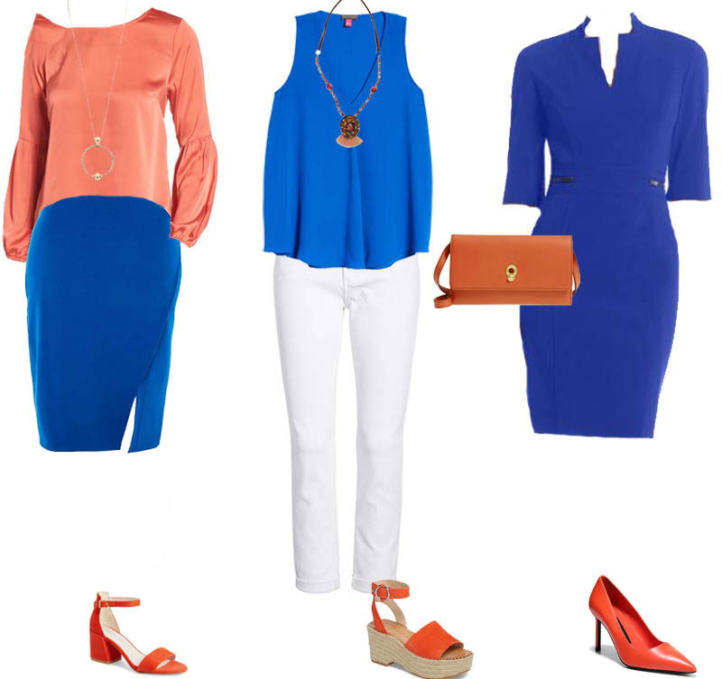 How To Wear Orange Ideas For Blue Color Combinations 40plusstyle