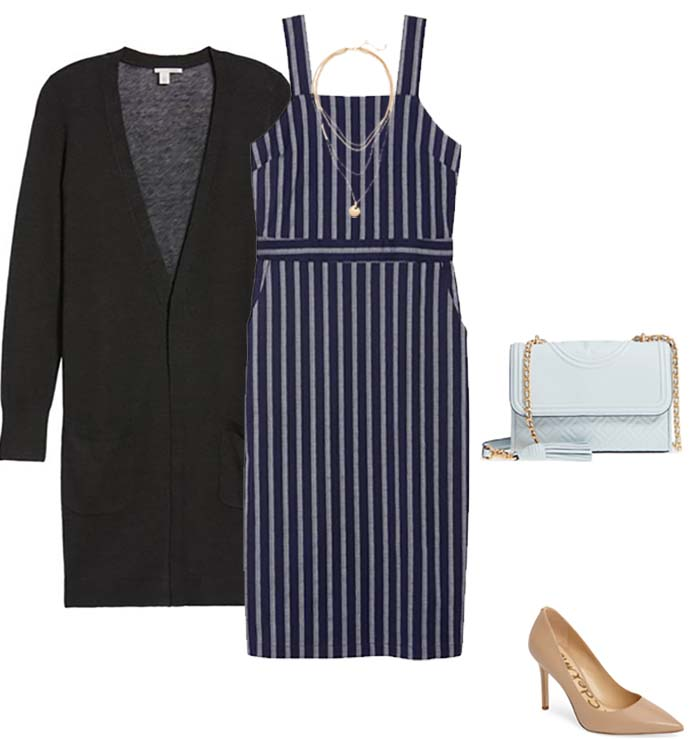 Pinstripe outfit - How to dress when you are petite | 40plusstyle.com