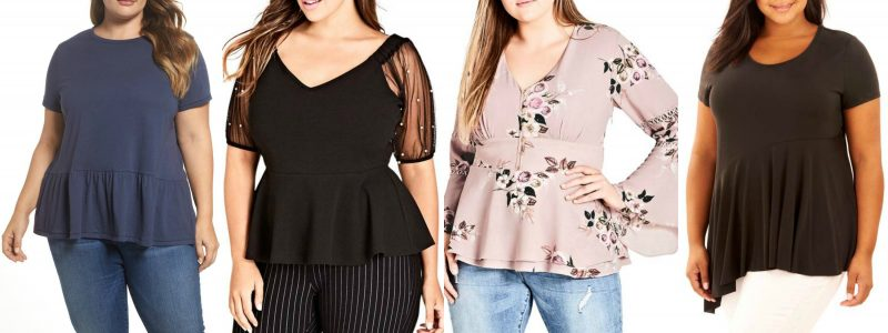 Peplum tops for 40 plus women that are in stores now | 40plusstyle.com