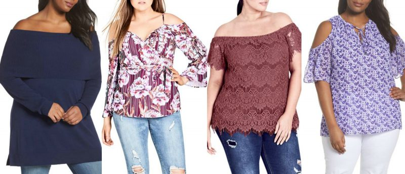 Off shoulder plus size tops for summer in stores now | 40plusstyle.com