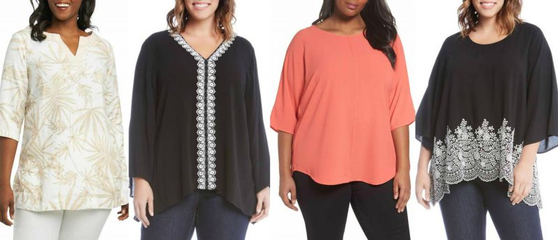 Stylish plus size tunics for summer in stores now | 40plusstyle.com