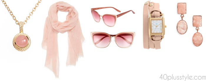 Pink accessories | 40plusstyle.com