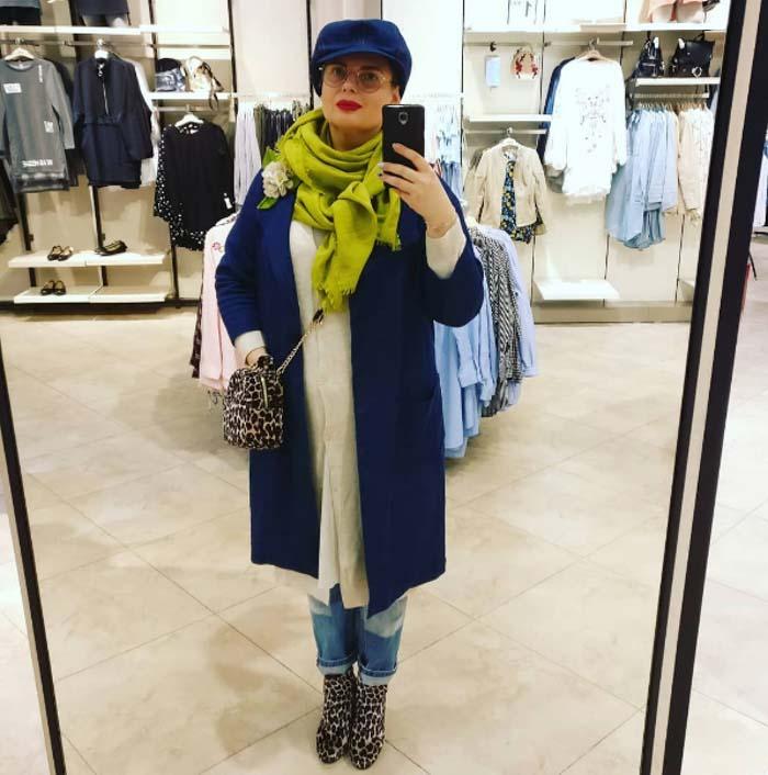 stylish green scarf - #40plusstyle inspiration: green | 40plusstyle.com