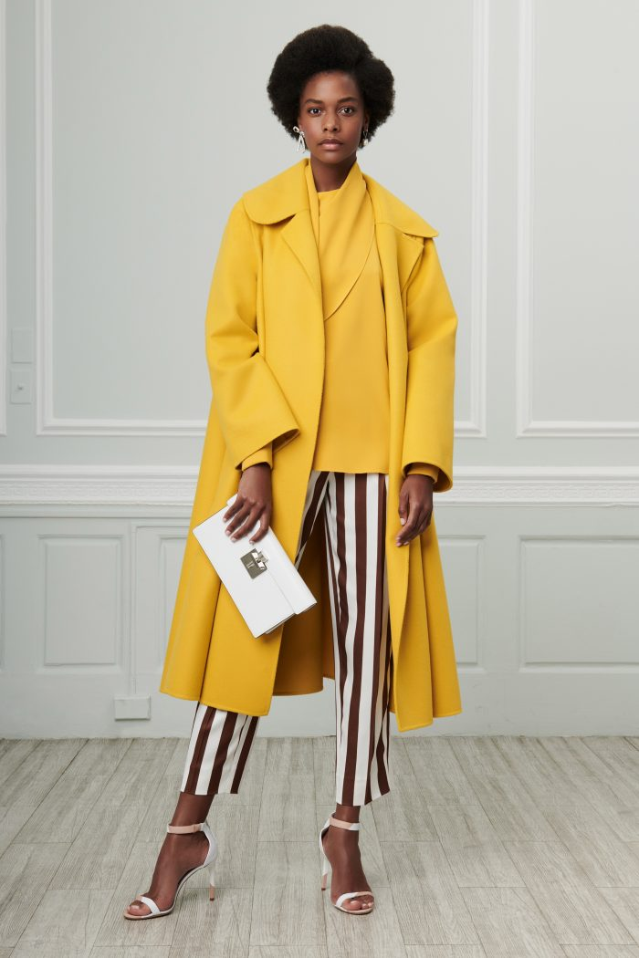 Yellow coat - The best of the Cruise Collections 2019 for women over 40 | 40plusstyle.com