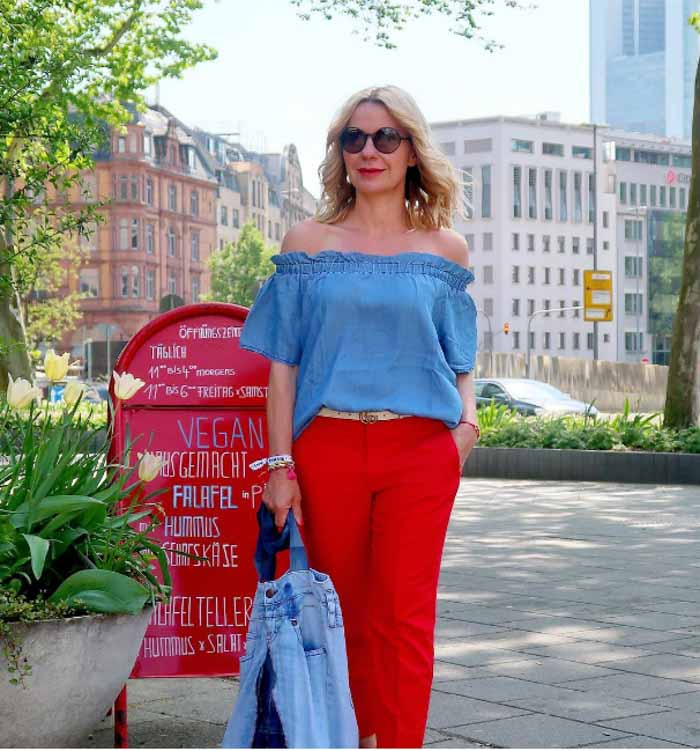 Chic red outfits | 40plusstyle.com
