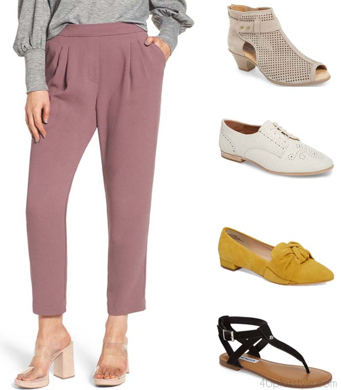 How to style ankle pants with different shoes | 40plusstyle.com