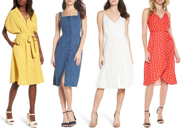 Summer dresses for the hourglass body type | 40plusstyle.com
