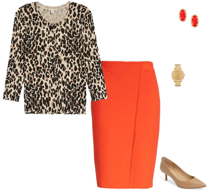 Bright colors and leopard print in summer | 40plusstyle.com