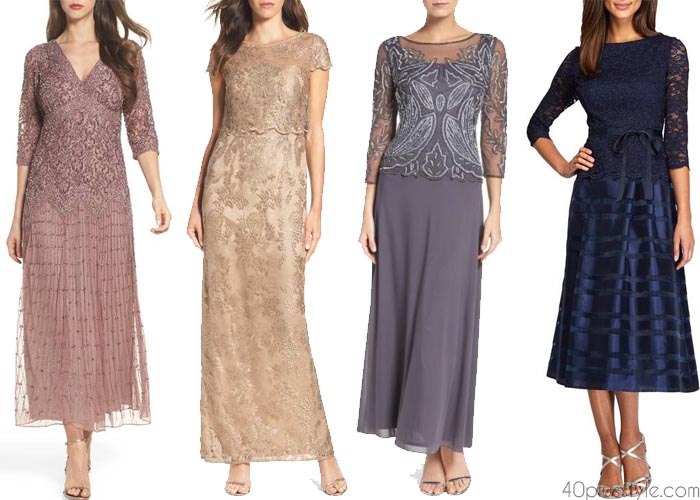 Long and elegant outfits for weddings | 40plusstyle.com
