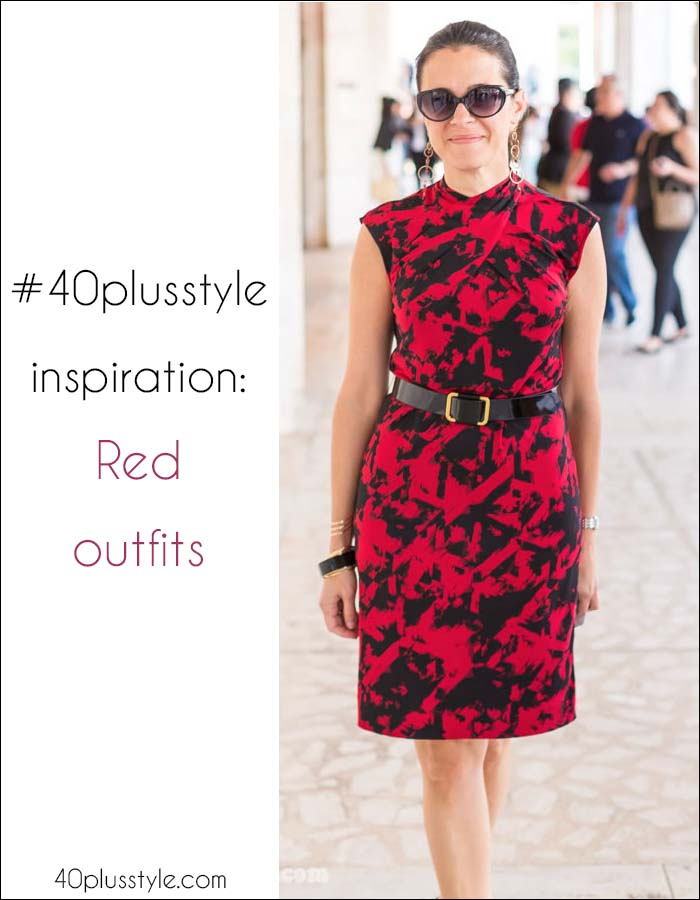 #40plusstyle Inspiration: 21 stylish looks featuring ladies in red! | 40plusstyle.com