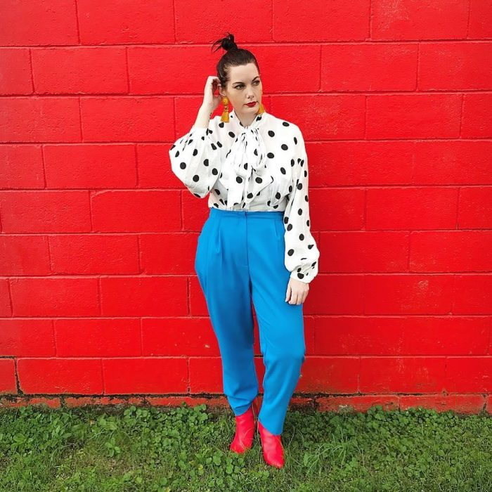 How to wear polka tops | 40plusstyle.com