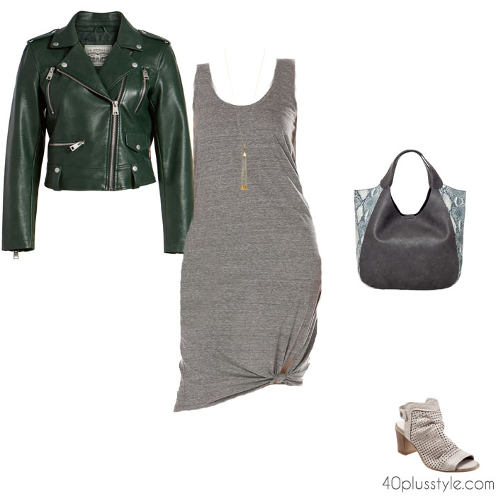 green outfits with gray | 40plusstyle.com