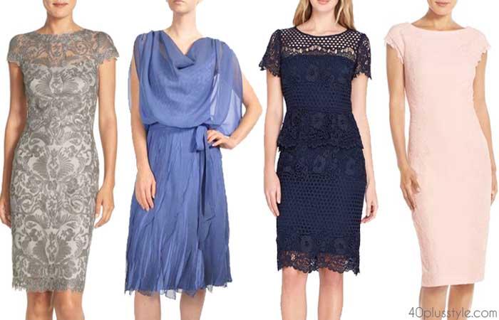 Wedding guest outfits: shorter or longer dresses | 40plusstyle.com