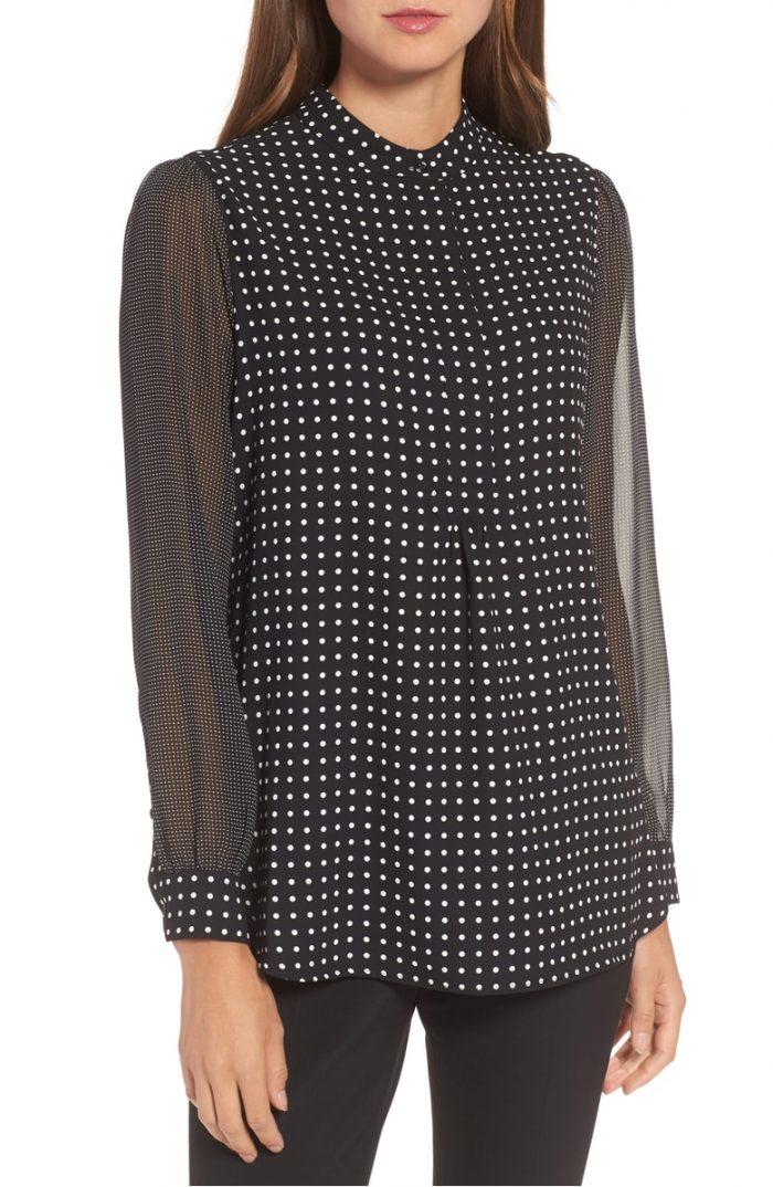 Polka dot blouses for women | 40plusstyle.com