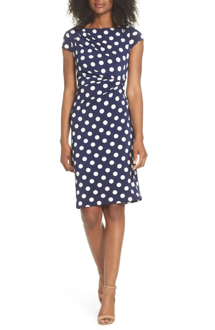 Polka dot dresses for women over 40 | 40plusstyle.com