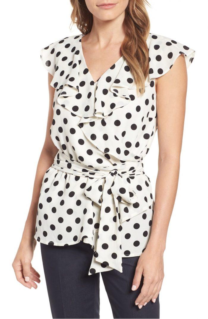 Polka dot tops for women | 40plusstyle.com