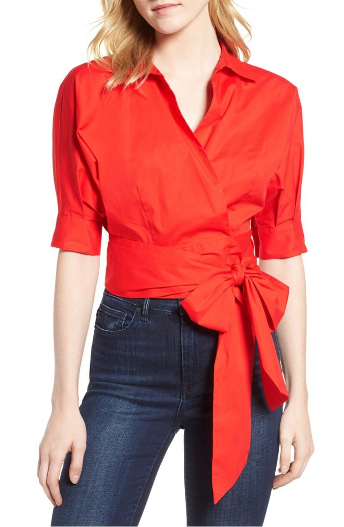 Stylish wrap tops for women | 40plusstyle.com