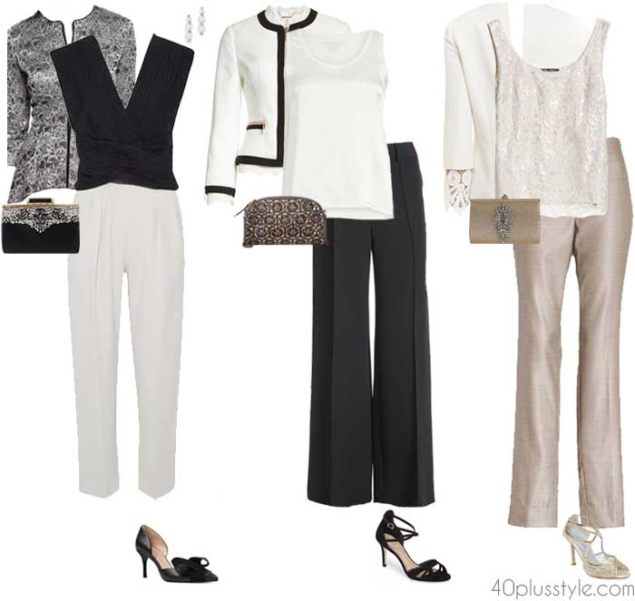 Pants set for a wedding attire   40plusstyle.com